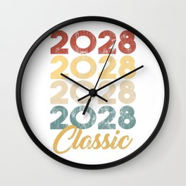 2028 Classic Vintage Style Anniversary Celebration Party Year Birthday Gift  Wall Clock