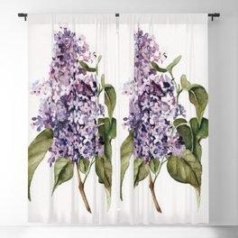 Lilac Branch Blackout Curtain