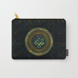 Marble and Abalone Endless Knot  in Mandala Decorative Shape Carry-All Pouch