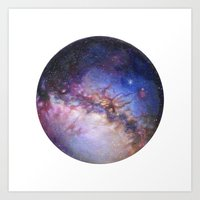 milky way Art Prints featuring Milky Way by Trisha Thompson Adams