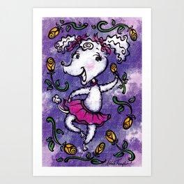 Perky Poodle Art Print