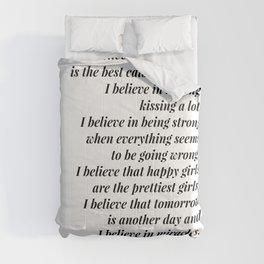 Audrey Hepburn quote Comforters