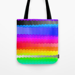 Rainbow and white S28 Tote Bag