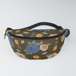 Colorful Roses pattern Fanny Pack