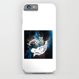 beluga whales twins in yin and yang ecopop pattern iPhone Case