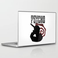 american psycho Laptop & iPad Skins featuring Psycho by Vickn