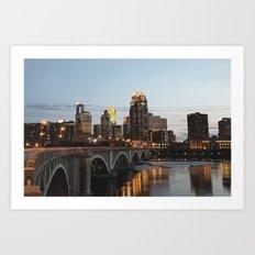 Minneapolis Skyline - Central Ave View Art Print