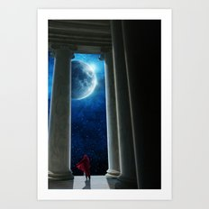 Moon Temple Art Print
