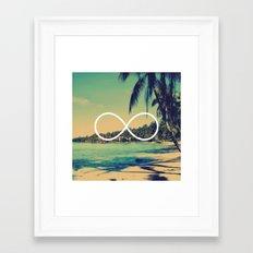 Forever Summer Vintage Beach Infinity Framed Art Print
