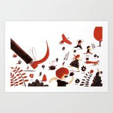 The Selfish Giant Art Print