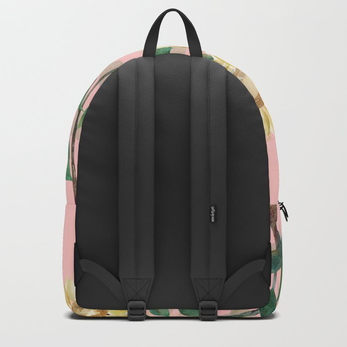 Sunflowers on Pink Backpack