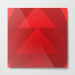 Abstract Triangle Pattern Decoration Metal Print