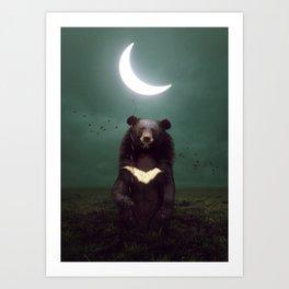 my light in the darkness Art Print