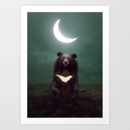 my light in the darkness Art Print