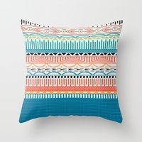 sweater Throw Pillows featuring Sweater Pattern by Gretel Digo