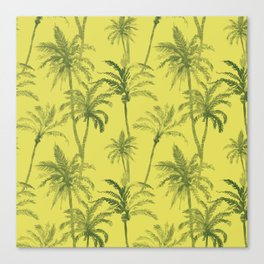 Palm Trees Desert Pattern Canvas Print
