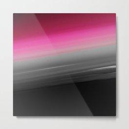 Pink Gray Black Ombre Metal Print