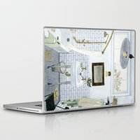 bathroom Laptop & iPad Skins featuring In The Bathroom by Yuliya