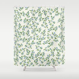Blueberry Fields Shower Curtain