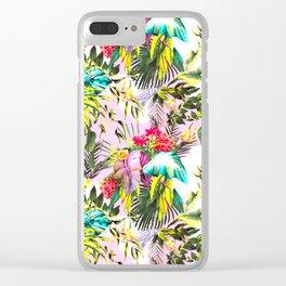 Dream tropical paradise Clear iPhone Case