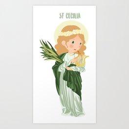 St. Cecilia Art Print
