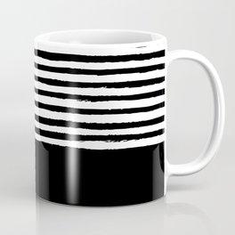 geometric art pattern with medium lines, black and white background Coffee Mug