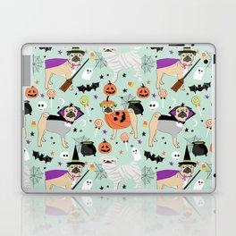 Pug halloween costumes mummy witch vampire pug dog breed pattern by pet friendly Laptop & iPad Skin