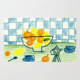 Lemons and oranges Rug