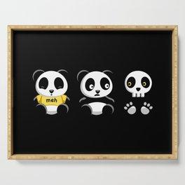 Little Pandas in the Dark Serving Tray
