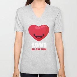 Love All The Time Unisex V-Neck