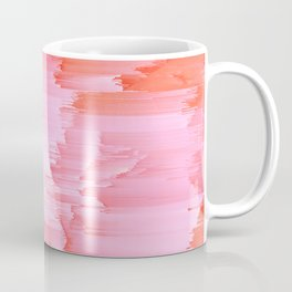 Romance Glitch - Pink & Living coral Coffee Mug