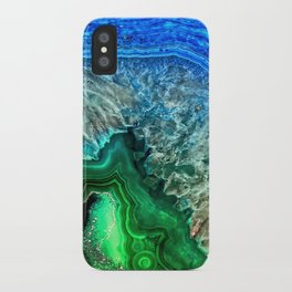 Turquoise Green Agate Mineral Gemstone iPhone Case