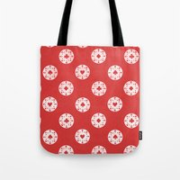 poker Tote Bags featuring Poker Dots by Leo Canham