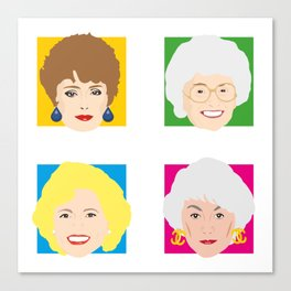 The Golden Girls, Betty White, Bea Arthur, Rue McClanahan, Estelle Getty Canvas Print