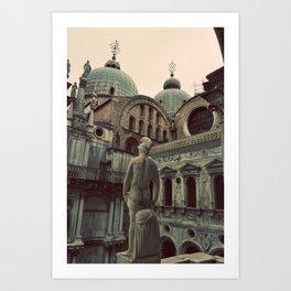 Venice: Statue Art Print
