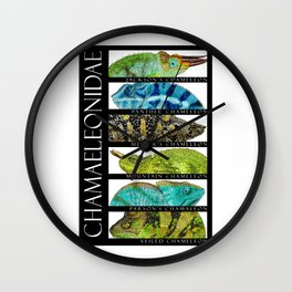 Chameleons of the World Wall Clock