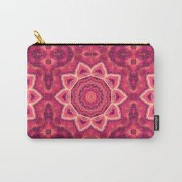 Gemstone Kaleidoscope  Mandala Carry-All Pouch
