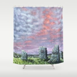 The Aneurin Bevan Monument Shower Curtain