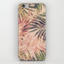 Palm Leaves in pink iPhone Skin