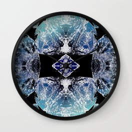 Turquoise Mandala-Throat Chakra Wall Clock