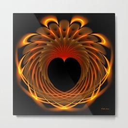 Dragon's Fiery Heart Metal Print