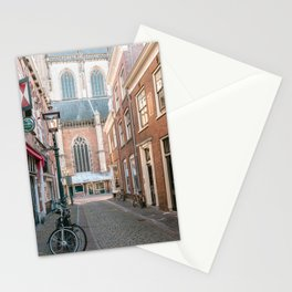 Historical architecture of the city Haarlem, Holland    Color travel photography streetview Europe Stationery Cards