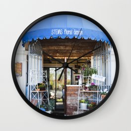 Sweet Little Florist Shop Wall Clock