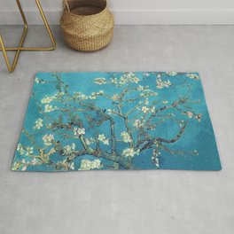 Branches with Almond Blossom - Vincent van Gogh Rug