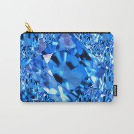 SEPTEMBER BLUE TOPAZ GEMMY  BIRTHSTONE ART Carry-All Pouch