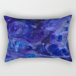 Blue Abyss Abtract Rectangular Pillow
