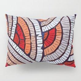 Mosaic fans Terrazzo Blobs Pillow Sham