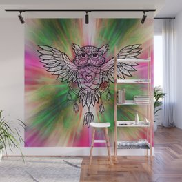 Owl Dreamcatcher by Julie Oakes Wall Mural