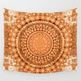 Boho Pumpkin Spice Mandala Wall Tapestry