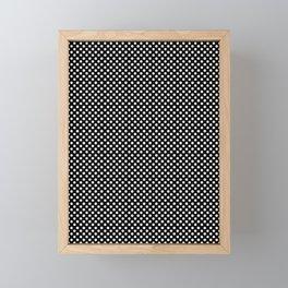 Polka Dots (White/Black) Framed Mini Art Print